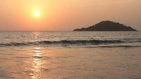 Piękno zmierzch na plaży zdjęcie wideo