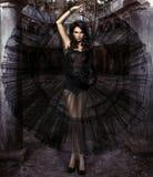 Piękno zmysłowa kobieta w sukni fotografia royalty free