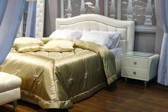 piękny łóżko Zdjęcia Royalty Free