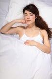 piękny łóżkowy dziewczyny Oriental dosypianie Obraz Stock
