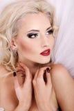piękny łóżkowy target281_0_ dziewczyny Zdjęcie Royalty Free