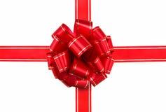 piękny łuk czerwoną wstążkę Zdjęcie Royalty Free