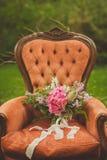 Piękny ślubny boho bukiet Obraz Stock