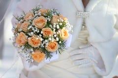 Piękny ślubny bukiet zdjęcia royalty free