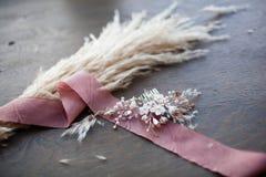 Piękny ślubny włosiany łęk handmade Zdjęcie Stock