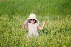 piękny śródpolny dziewczyny adry kapelusz trochę Obraz Royalty Free