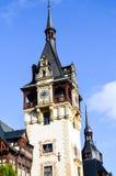 Piękny średniowieczny castel wierza w Rumunia Zdjęcia Stock