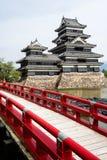 Piękny średniowieczny grodowy Matsumoto w wschodnim Honshu, Japonia Zdjęcie Stock