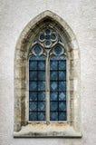 Piękny średniowieczny kościelny okno, ideał forma Obraz Stock