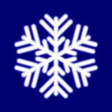 piękny świecący płatek śniegu ilustracji