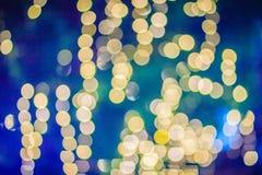 Piękny żółty bokeh abstrakta światła tło Cudowny Defo zdjęcia royalty free