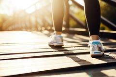 Piękny żeński biegacz Obrazy Stock