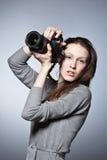 piękny żeński fotograf Fotografia Royalty Free