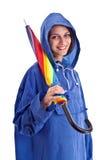piękny żeński parasolowy whit Obraz Stock