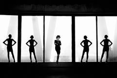 Piękny żeński portret jako projektant mody Coco Chanel fotografia royalty free