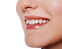 piękny żeński uśmiech zdjęcia stock