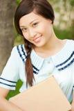 Piękny żeński uczeń zdjęcia royalty free