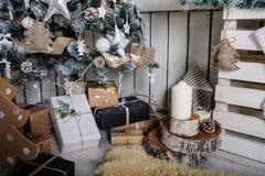 Piękny żywy pokój dekorujący Zdjęcia Royalty Free