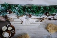 Piękny żywy pokój dekorujący dla bożych narodzeń Fotografia Stock