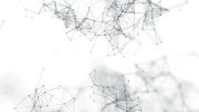 Piękny abstrakcjonistyczny geometryczny tło wykłada i kropki, plexus swobodny ruch zbiory wideo