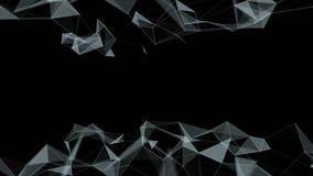 Piękny abstrakcjonistyczny geometryczny tło wykłada i kropki, plexus swobodny ruch zdjęcie wideo