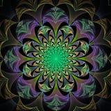 Piękny abstrakcjonistyczny kwiat w szarość, zieleni i purpurach. Fotografia Royalty Free
