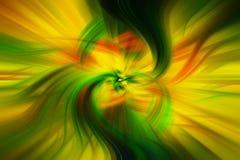 Piękny abstrakcjonistyczny tło w błękicie, zieleni, kolorze żółtym i pomarańcz brzmieniach, zdjęcie stock