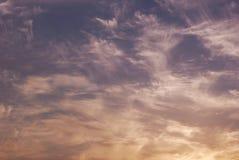 Piękny abstrakcjonistyczny tło z jaskrawymi kolorowymi chmurami Zdjęcie Royalty Free