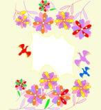 Piękny abstrakcjonistyczny tło z jaskrawymi kwiatami Obraz Royalty Free
