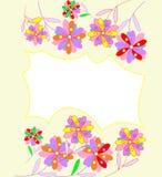 Piękny abstrakcjonistyczny tło z jaskrawymi kwiatami Obrazy Royalty Free