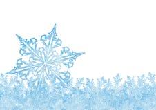 Piękny abstrakt Marznący Krystaliczny Lodowy płatek śniegu z Białym b ilustracja wektor