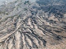 Piękny aktywny wulkan z dymną górą Bromo z udziałem turysta obrazy royalty free