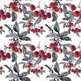 Piękny akwareli lata ogródu kwitnienie Kwitnie Bezszwowego wzór royalty ilustracja