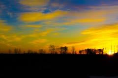 PIĘKNY ALBERTA wschód słońca Fotografia Royalty Free