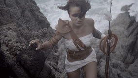 Piękny Amazon kobiety wojownik zdjęcie wideo