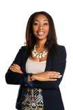Piękny amerykanin afrykańskiego pochodzenia Busineswoman zdjęcia stock