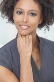 Piękny Amerykanin Afrykańskiego Pochodzenia Kobiety Bizneswoman Obrazy Royalty Free