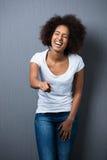 Piękny amerykanina afrykańskiego pochodzenia nastolatek Fotografia Stock