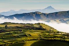 Piękny andyjski krajobrazowy widok od Nono, Ekwador zdjęcie royalty free