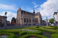 Piękny antyczny kościół Nasz Błogosławiona dama Sablon lokalizować w Sablon/Zavel okręgu Obraz Stock