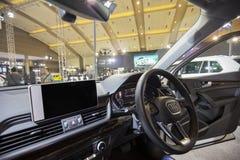 Piękny Audi Q5 samochodu wnętrze Zdjęcia Stock