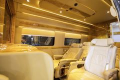 Piękny autobusowy wnętrze projektujący BAV Obrazy Stock