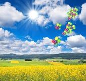 piękny błękit krajobrazu nieba lato Zdjęcia Royalty Free