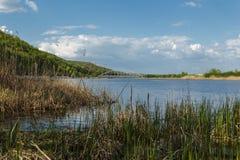 piękny błękitny jezioro Fotografia Royalty Free
