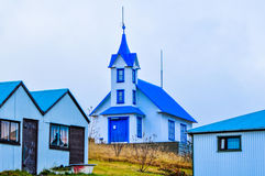 Piękny błękitny kościół obrazy stock