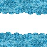 Piękny błękitny wektorowy tło Zdjęcia Royalty Free