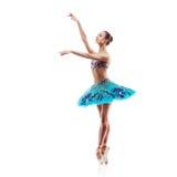 Piękny baletniczy tancerz odizolowywający Obrazy Royalty Free