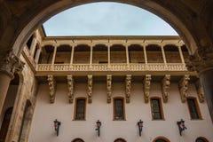 Piękny balkon w Salina pałac podwórzu Zdjęcie Stock