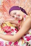 piękny barwiony dziewczyny gwoździ ja target1304_0_ Obrazy Stock