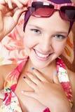 piękny barwiony dziewczyny gwoździ ja target1721_0_ Obrazy Stock